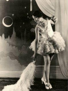 Vintage flapper girl