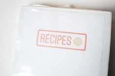 PAGES FOR YOUR RECIPE BINDER