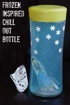 Frozen Craft - Disneys Frozen Inspired Chill Out Relaxation Bottle from Lalymom