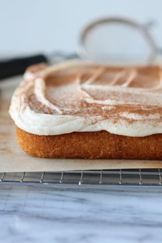 Vanilla Cinnamon Cake with Browned Butter Frosting