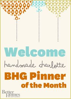 We're excited to announce that Rachel Faucett of Handmade Charlotte will be joining us as Pinner of the Month! Watch for her pins on a variety of our home and DIY boards this April.