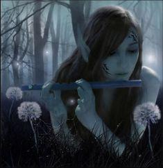 music, magic, fantasi, flutes, art, fairi, forest, elf, elves