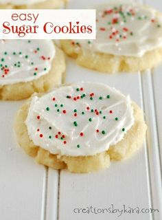 easy (no roll) sugar cookies w/ almond extract