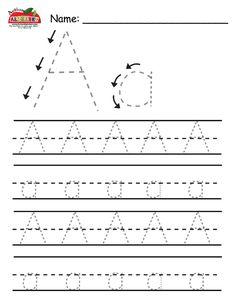 Letter Trace for Preschool-Kindergarten