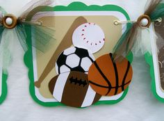 Baby shower sports banner its a boy
