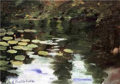 Yerres, on the Pond, Water Lilies - Gustave Caillebotte