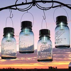 love these solar powered mason jar lights!