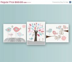 Baby Girl Nursery Decor  Wall Art For Baby Girl by DesignByMaya, $40.00