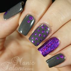 Pinned by www.SimpleNailArtTips.com SIMPLE NAIL ART DESIGN IDEAS - #nails #nailart  http://www.manictalons.com/2014/07/a-first-attempt-at-nail-foils.html - Foiled Dotticure, Pinned by www.SimpleNailArtTips.com SIMPLE NAIL ART DESIGN IDEAS - #nails #nailart