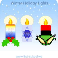 Free Christmas & other Winter Holidays printable activities and crafts for preschool, Kindergarten to 2nd grade