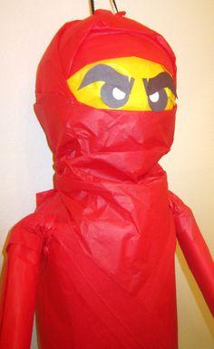 MOVING RED Ninja Pinata Custom Ninjago by PinataMama on Etsy, $60.00