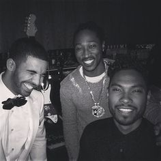 Drake, Future, And Miguel At Drake's 27th Birthday Bash