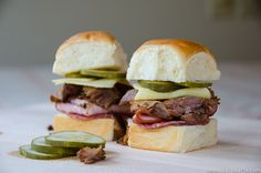 Pulled Pork Cubano Sliders