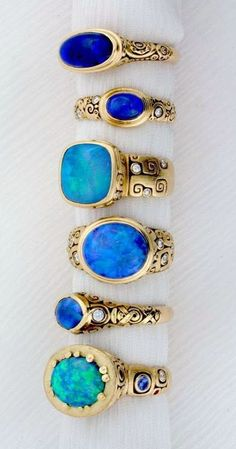 Opal rings from Alex Sepkus