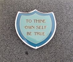 Alcoholics Anonymous Thine Own Self Be True Lapel Hat Pin NA Recovery Al Anon | eBay