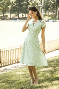 Bass Strait Wrap Dress | Sydney City Collection by Shabby Apple wrap dresses, shabbi appl