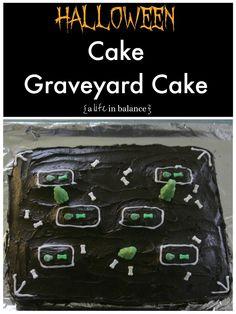 Halloween Cake: Graveyard Cake
