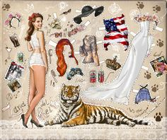 lana del rey, singer paper, paper dolls, paperdol, art, papers, klippdock