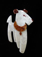 VTG Lea Stein Ric the Terrier Dog Brooch