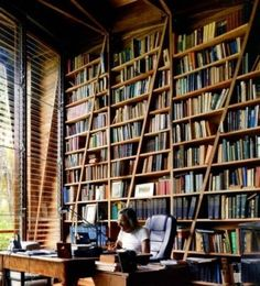 Wow. Gorgeous library/study.