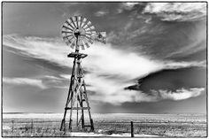 Windmill in the Sandhills of Nebraska
