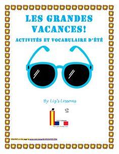 $ Need some fun activities to do before summer vacation in you French class?
