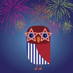 '4th of July Owl' by Runderella