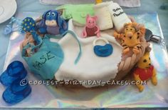 Coolest Winnie the Pooh Baby Shower Cake... This website is the Pinterest of birthday cake ideas