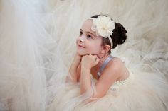 Flower girl with a poofy tulle dress: http://www.stylemepretty.com/colorado-weddings/2014/04/22/rustic-farm-wedding/ | Photography: Angie Wilson - http://angiewilsonphotography.com/