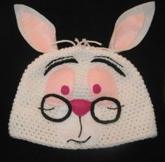 Crochet Character Beanies | White Rabbit Crochet Hat/Cap/Beanie review at Kaboodle