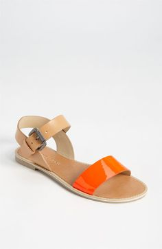 Orange alert: Vera Wang sandal, on sale.