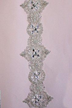 1 YARD of  Luxury Crystal Beaded Bridal Trim
