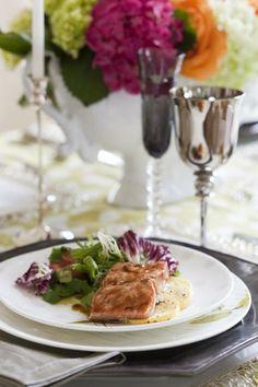 Salmon with Warm Sesame-Soy Salad