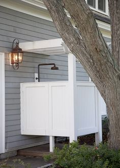 Love the outdoor shower/changing area