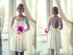 Short wedding dress // Amelie // 2 pieces by CarouselFashion
