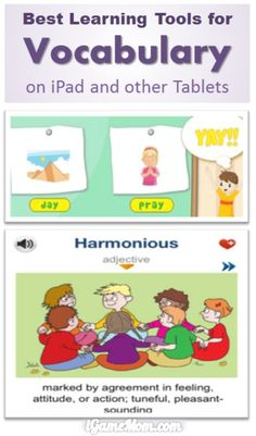 Best Vocabulary Learning Tools on iPad and Other Tablet #kidsapps