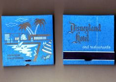 vintage disneyland hotel matches. gimme matchbook, vintage disneyland hotel, hotel match