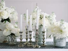 Elegant Reflections - Creating a White-on-White Holiday Tablescape on HGTV