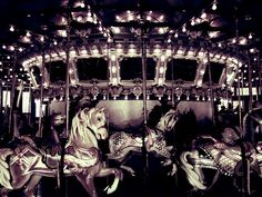 The famous carousel at Glen Echo Park in Glen Echo, Maryland                                                                                                                                                           Carousel Horses                    ..