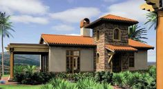 The Rosabella #houseplan 5923 is the perfect warm weather vacation retreat. Learn more about his 972 sq. ft. home with a large open living space. http://www.thehousedesigners.com/plan/rosabella-5923/