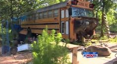 Children found living in abandoned school bus finally reunited with dad | khou.com Houston