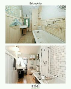 Rehab addict - Case Ave bathroom. Before/ after by Ariel Photography
