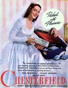 1945 Chesterfield Cigarettes