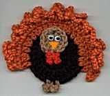 Thanksgiving Turkey Fridgie - free crochet pattern