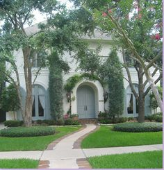 french blue shutters, blue doors, arch, door colors, exterior colors, french countri, dream houses, exterior paint colors