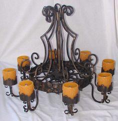 light fixtur, wrought iron, spanish style, design idea