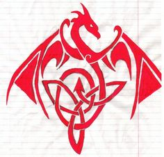 Dragon and Celtic Knot