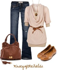 """""""Pink and Brown"""" by kaseyofthefields ❤ liked on Polyvore"""