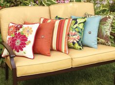 Mix &  match decorative  throw pillows to give any outdoor furniture a fresh new look. View this season's BHG outdoor pillows at your local Walmart
