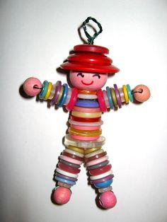 ButtonArtMuseum.com -  Button doll charm